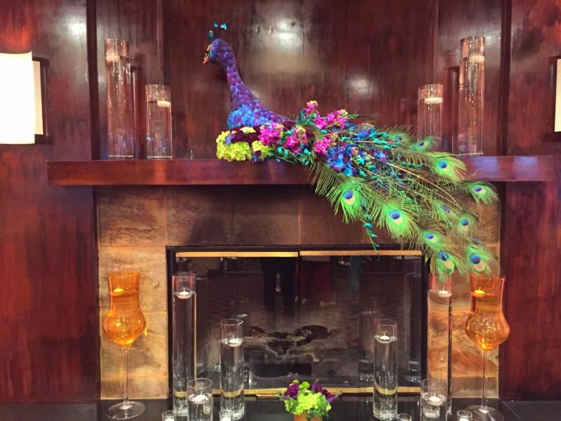 Peacock Theme Reception Decoration
